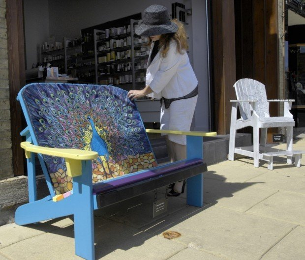Carol Christensen Looks At The First Place Chair Wednesday Afternoon,  August 26. 2009, From Racineu0027s 2009 Public Art Project, U201cSunny And Chair,u201d  Which ...