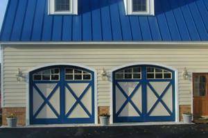 house blue doors