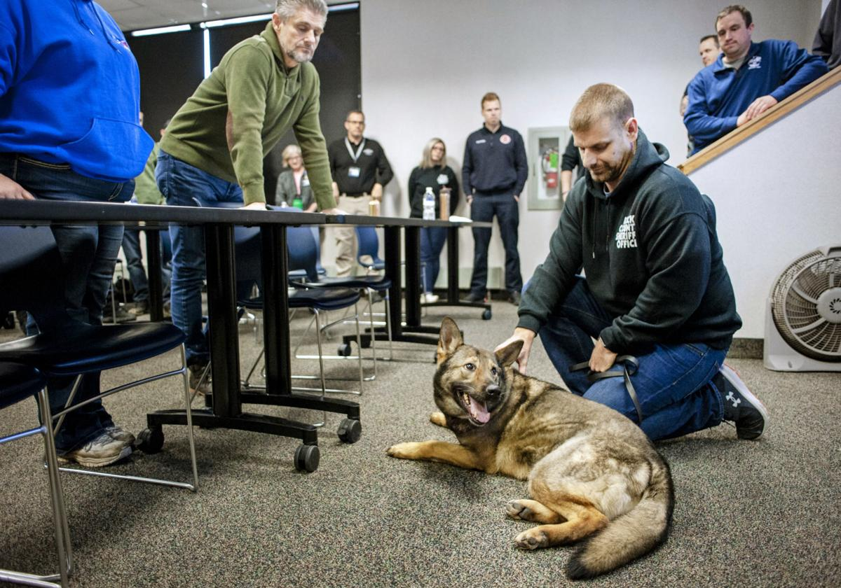 Rock County first responders get canine first aid training