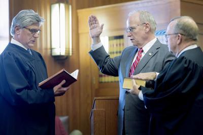 Mark Nielsen takes Judicial Oath