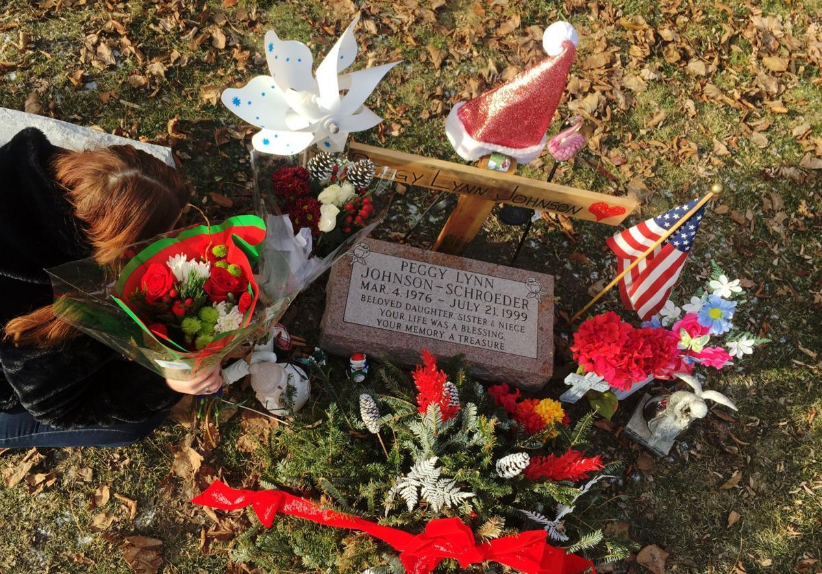 Peggy Johnson-Schroeder tombstone blessing, Dec. 18