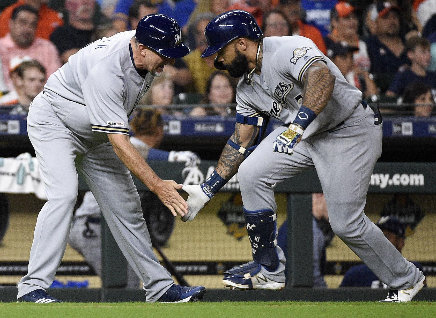 Brewers Astros Baseball