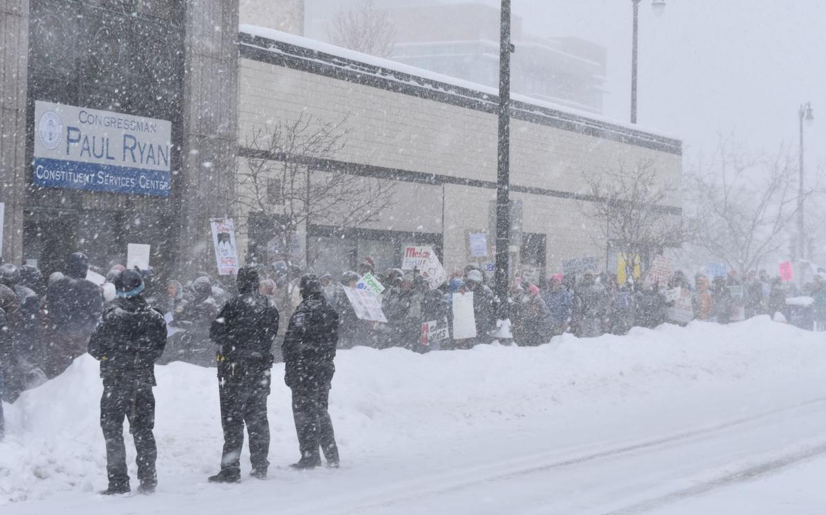 Snowy health care protest