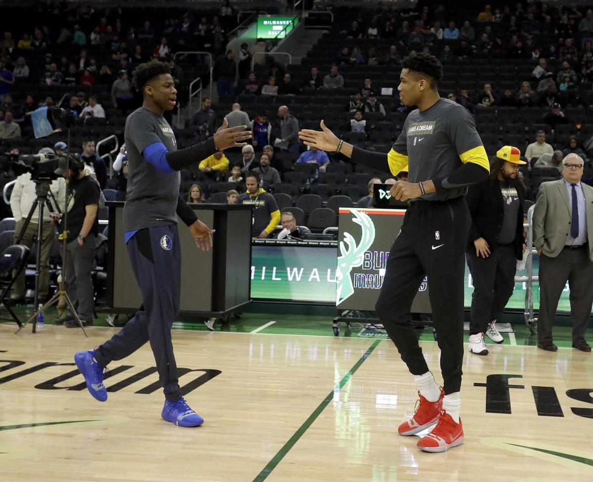 7e4040e6564e Mavericks Bucks Basketball. Milwaukee forward Giannis Antetokounmpo