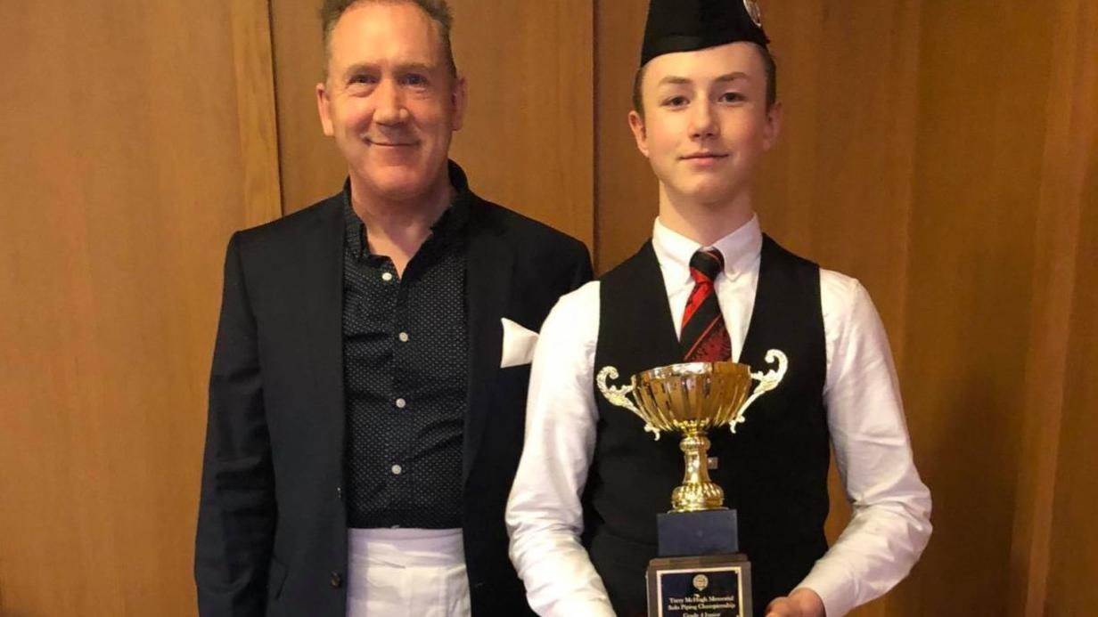 Caledonia resident takes 1st place in national bagpipe competition