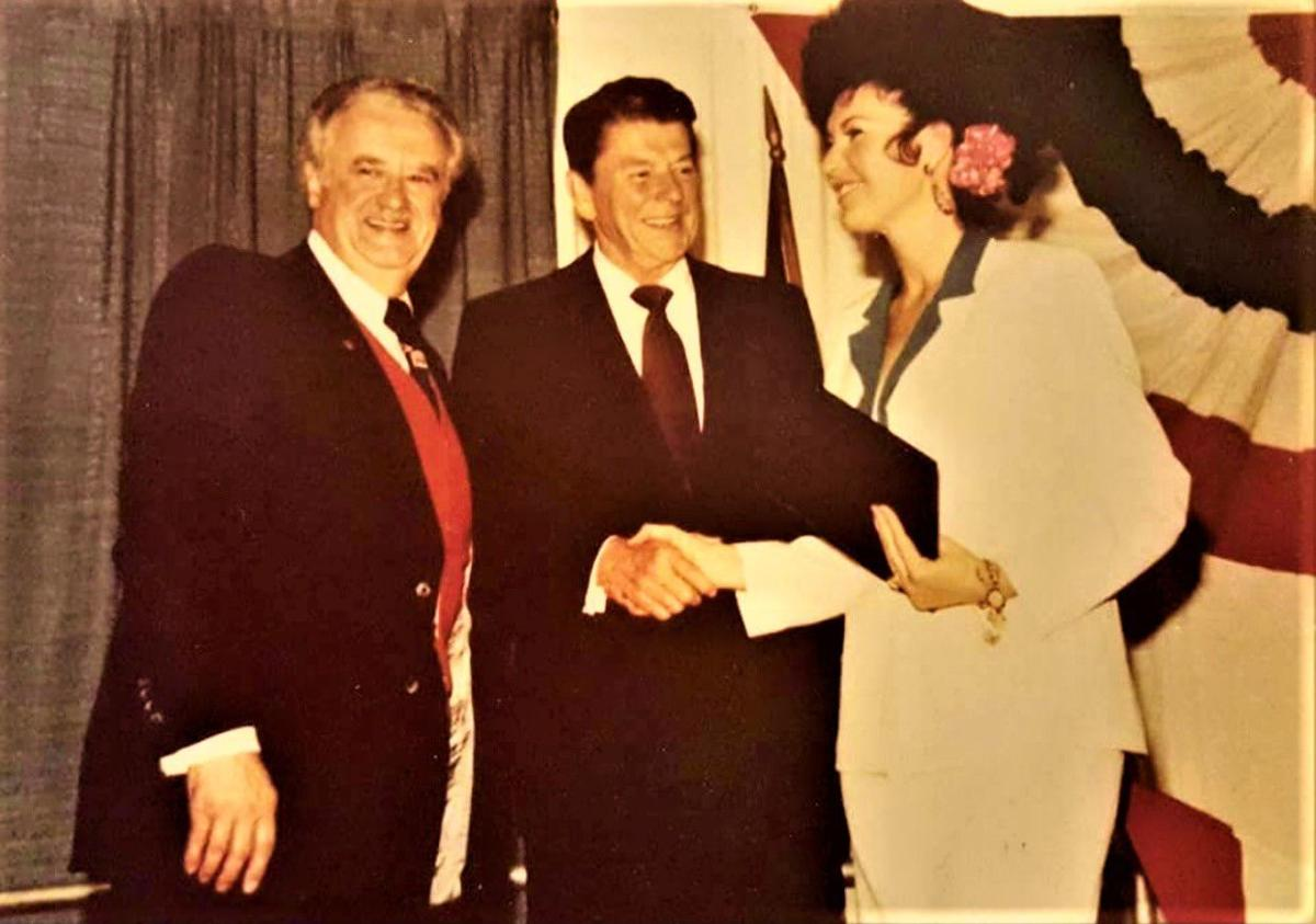 Joyce Leffler recognized by President Ronald Reagan, Gov. Lee Sherman Dreyfus