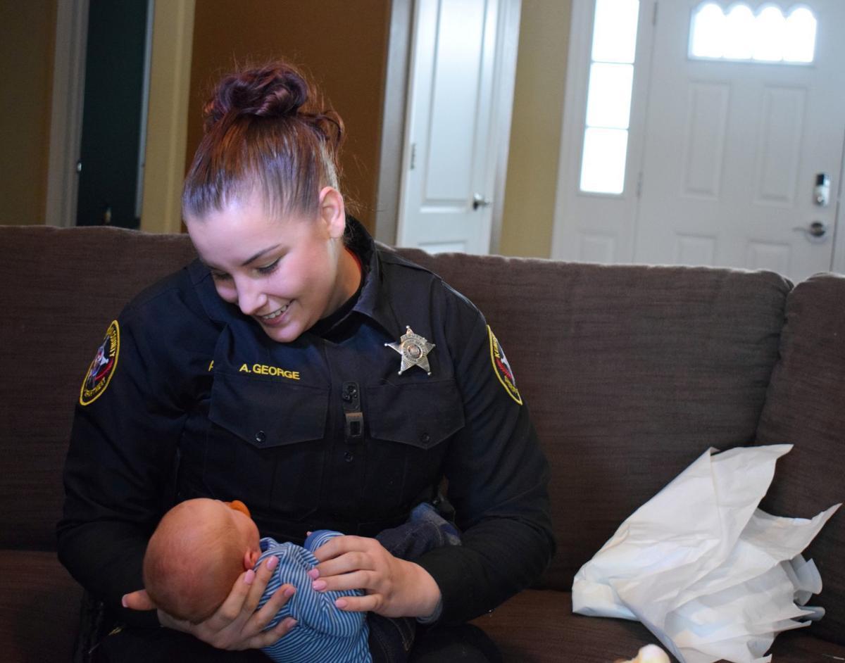 Deputy Allison George with Nathan Leppert