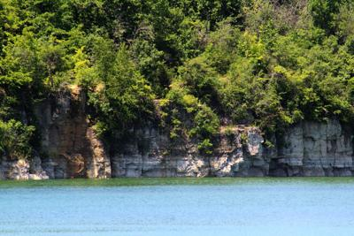 Quarry Lake Park cliffs and trees