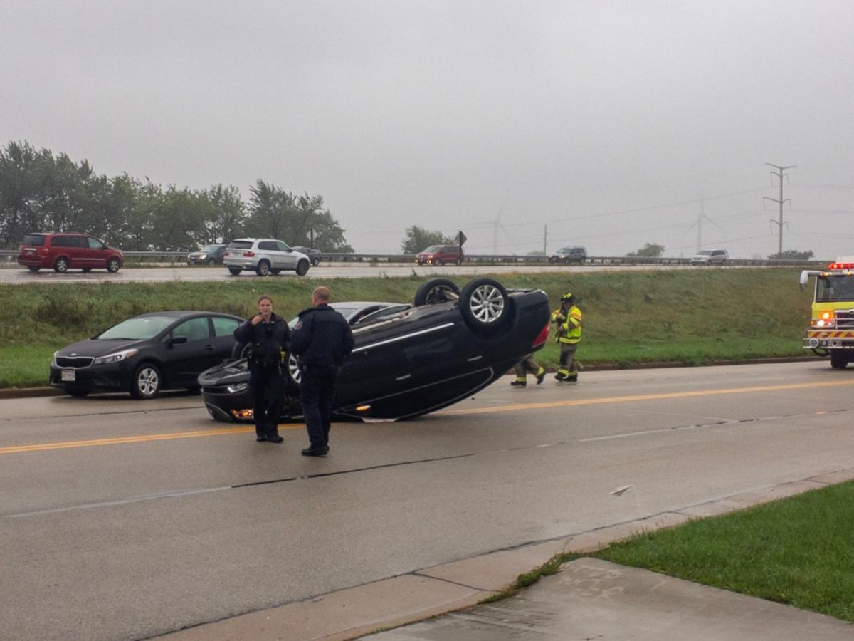 Two transported to hospital after crash