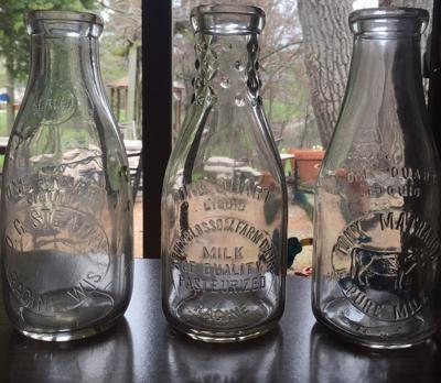 Racine milk bottles