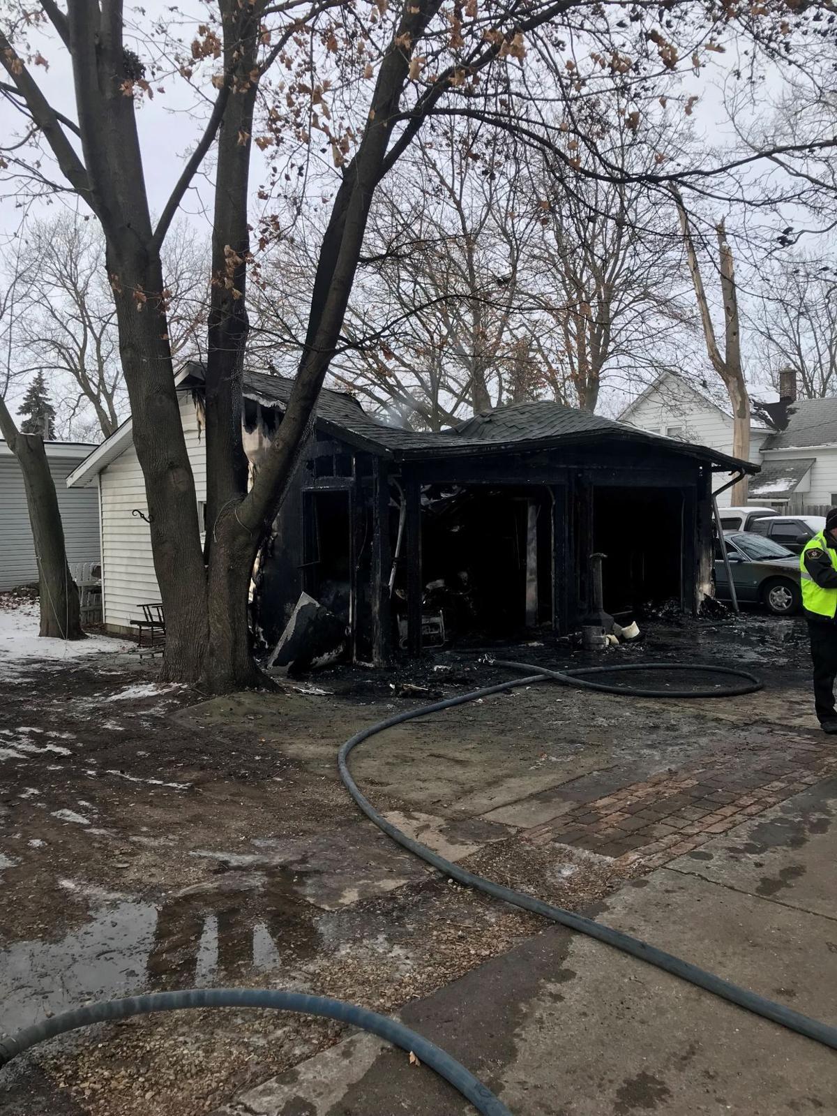 Garage fire on 15th Avenue in Union Grove