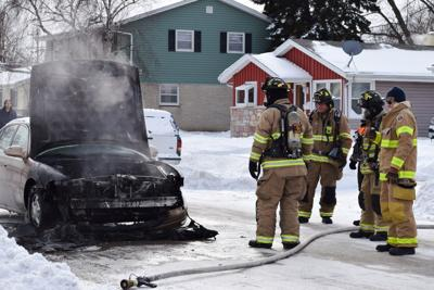 Car Fire On Perry Avenue