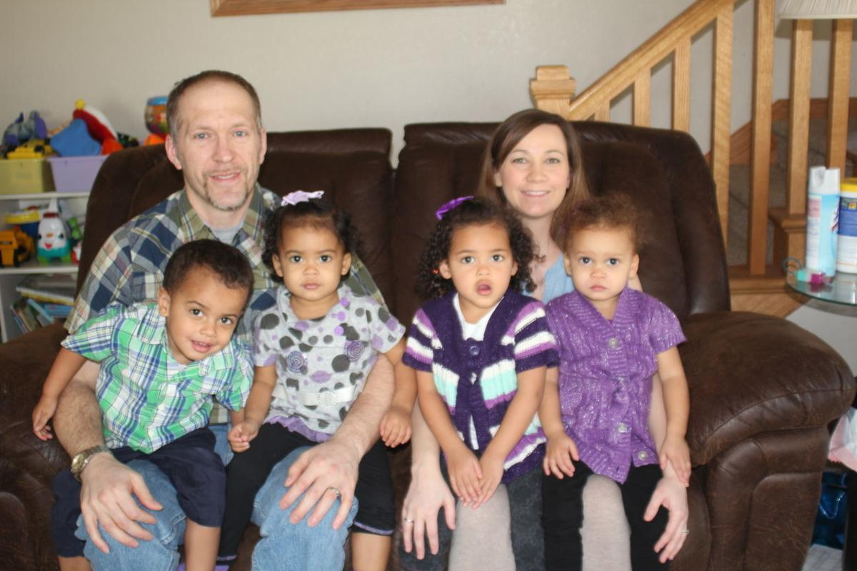 Couple with three sets of twins says it's fate