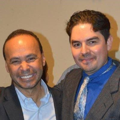 Ricardo Fierro and Rep. Luis Gutierrez