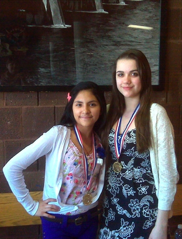 Gold medalists from Gilmore Middle School