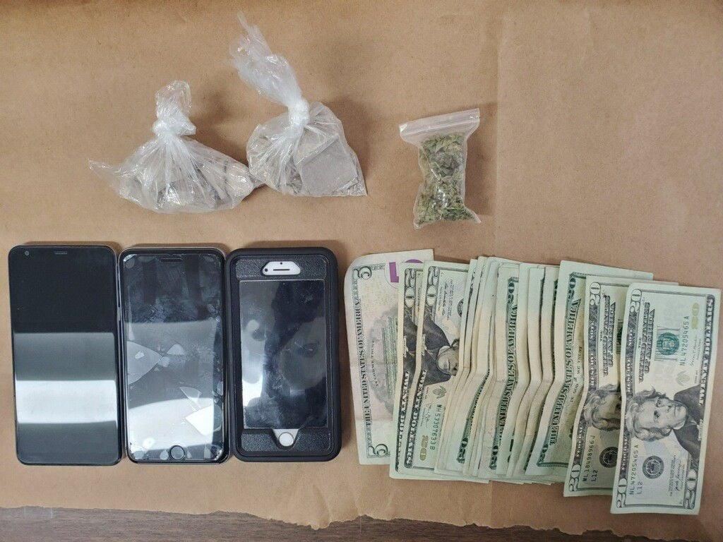 Heroin, marijuana found