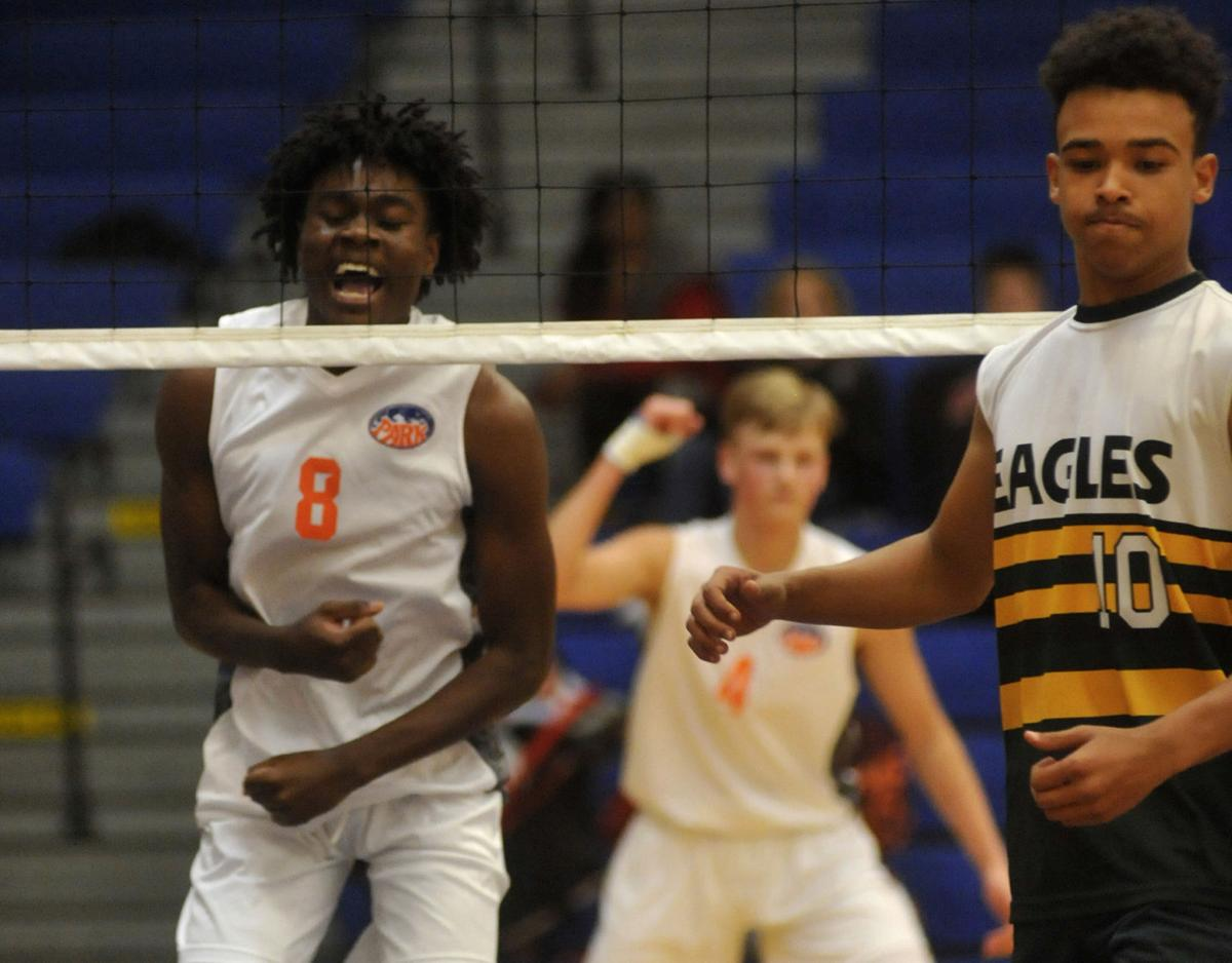In Photos: Park rallies past Case in boys volleyball