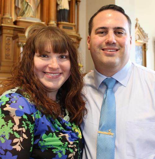 Angela Romano and Brandon Ross