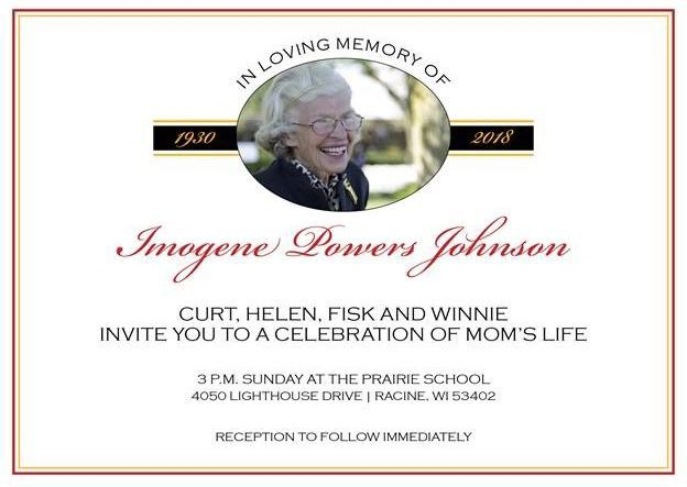 Imogene Johnson memorial