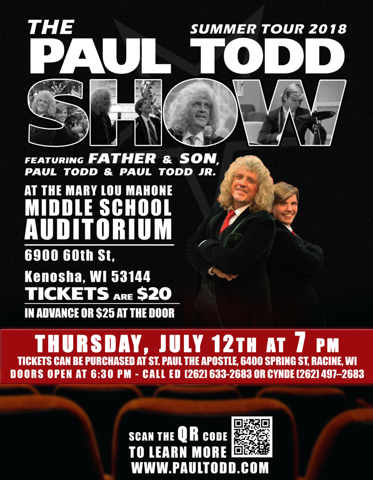 Paul Todd Tour Poster
