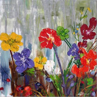 """""""Silver Flowers"""" by Ed Lazzeroni"""