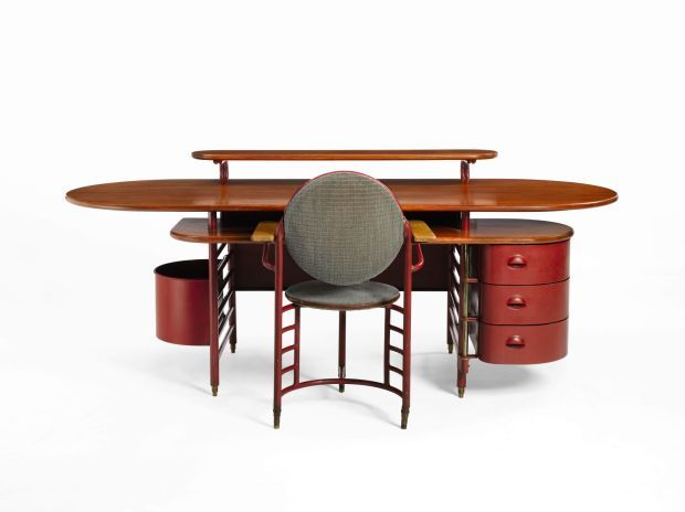 Frank Lloyd Wright Designed Desk And Office Chair