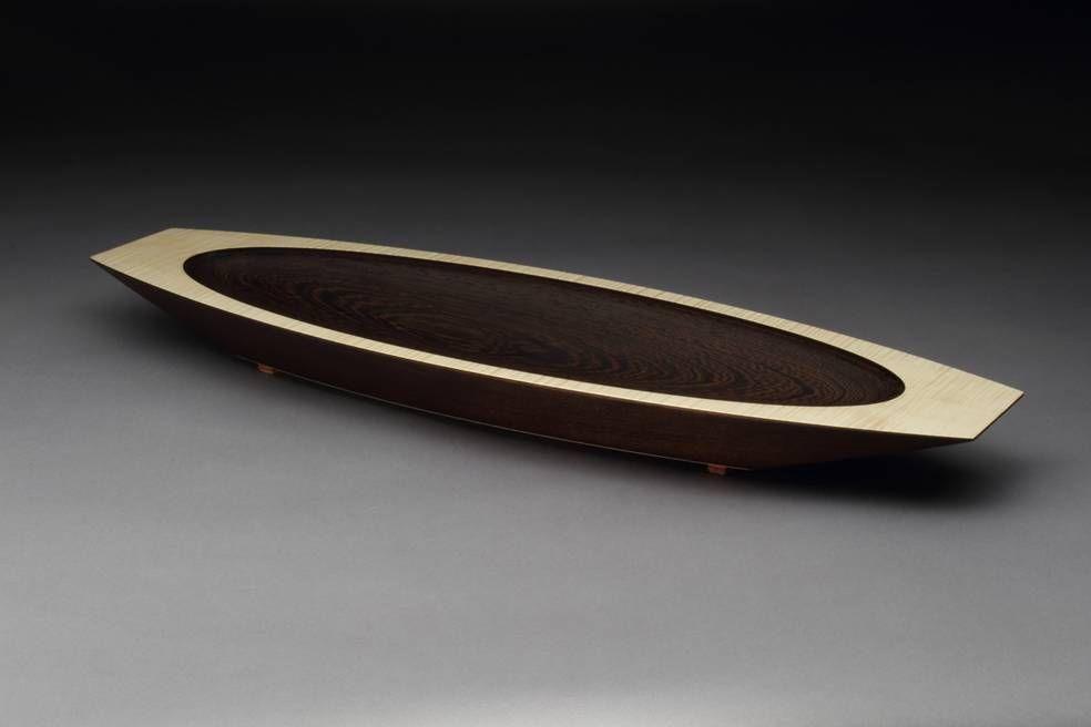Elliptical bowl by Ray Bock