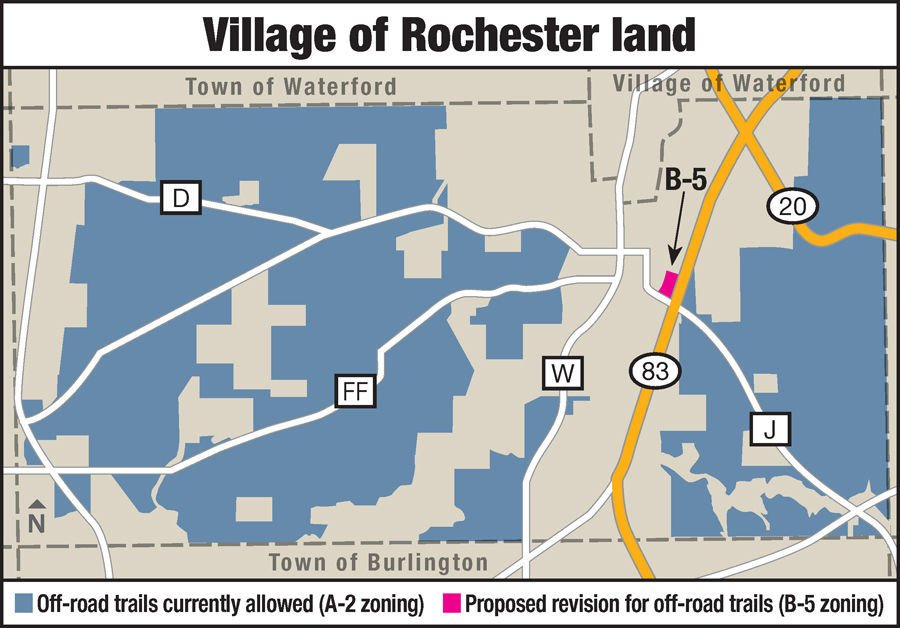 Rochester off-road trail zoning proposal