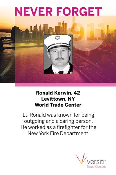 Sample 9-11 remembrance card