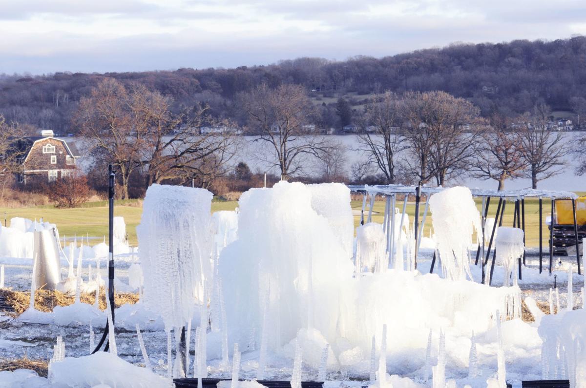 Ice Castle under construction December 2019