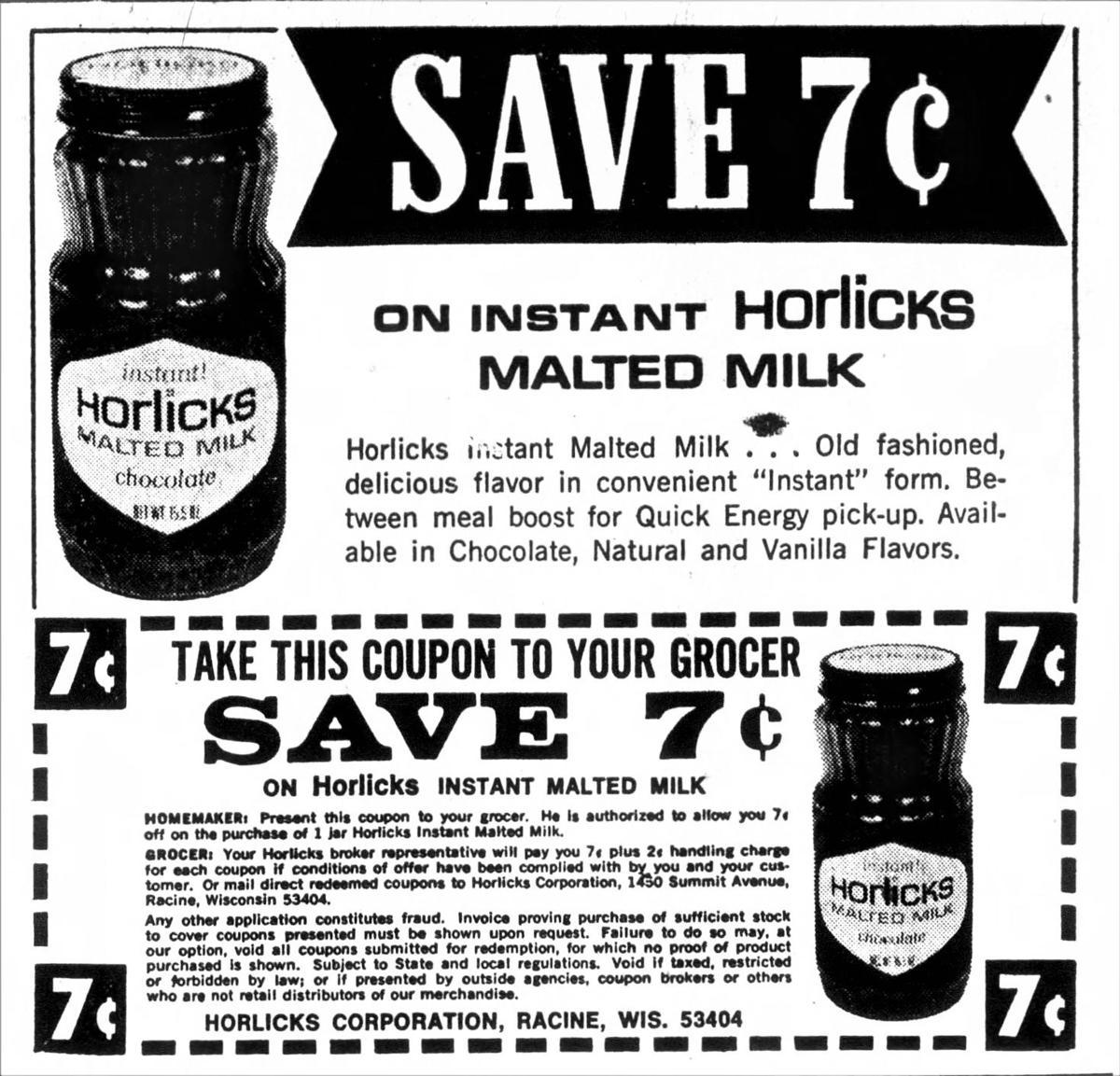 Horlick's Malted Milk ad, February 1969