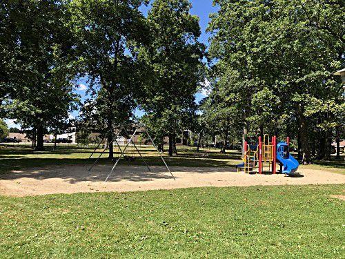 Playground equipment at Pierce Woods Park in the City of Racine, 3616 Pierce Blvd.
