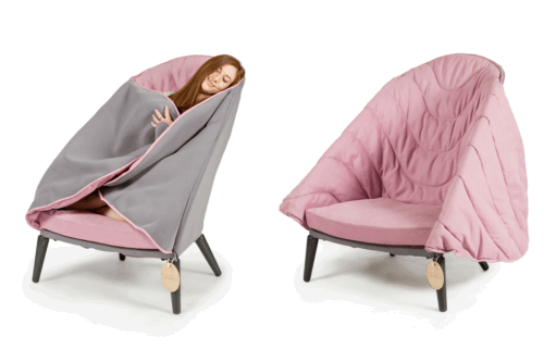 b98d1b6ed2f Someone Designed A Cozy Cocoon Chair That Has A Built-in Blanket ...