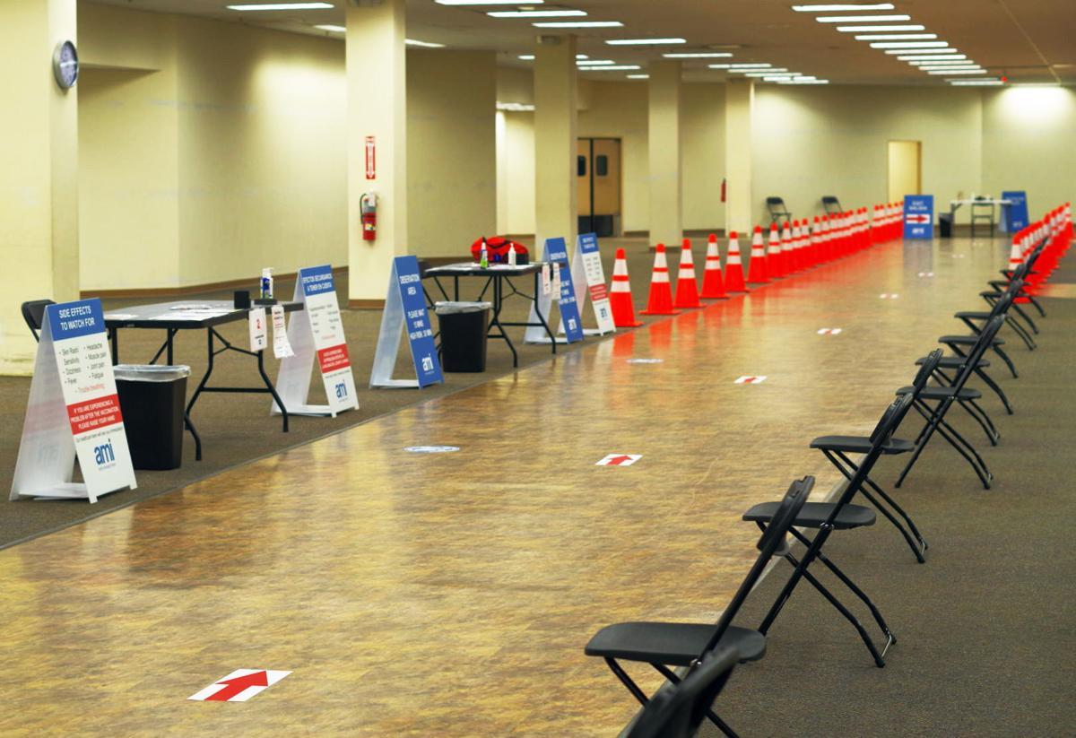 Regency Mall vaccine clinic waiting area