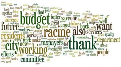 Word Cloud: Dickert's 2011 budget speech