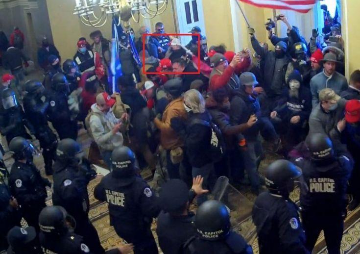 Riot scene