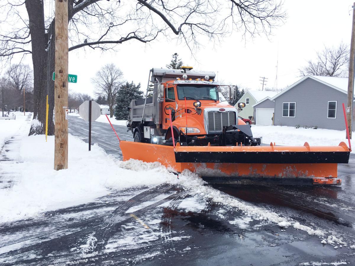 Union Grove snowplow clears street