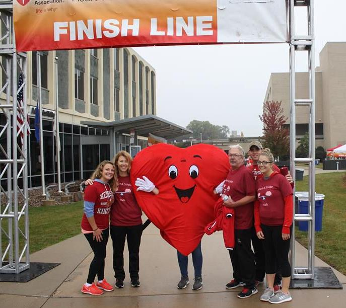 Heart Walk finish line