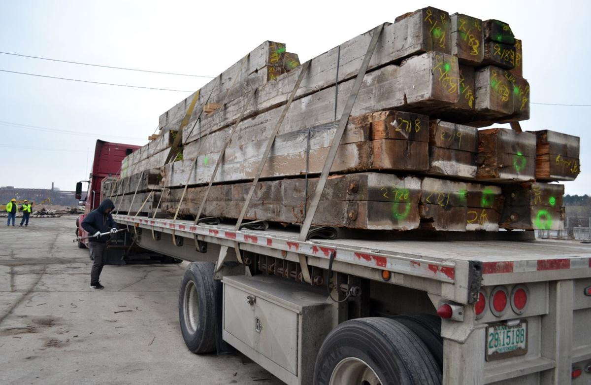 Water Street lumber load
