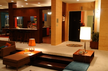 In This Undated Image Released By Amc Don And Megan Draper S Apartment From The Cur Season Premiere Of Mad Men Arranged Set Decorator Claudette