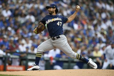 Brewers Yelich Homers Gonzalez Relievers Combine To Shut