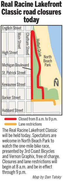 MAP: Lakefront Classic road closures along the lake today
