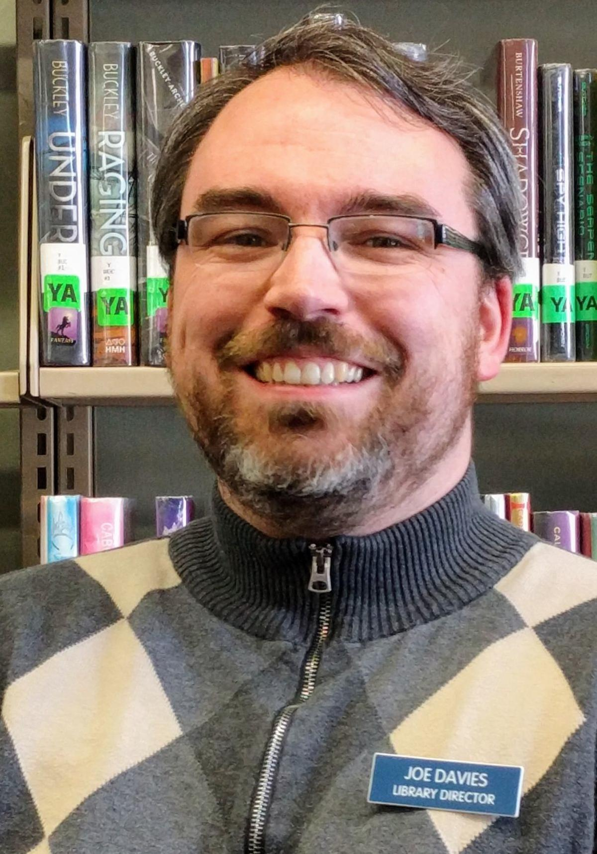 Joe Davies, Burlington Library director