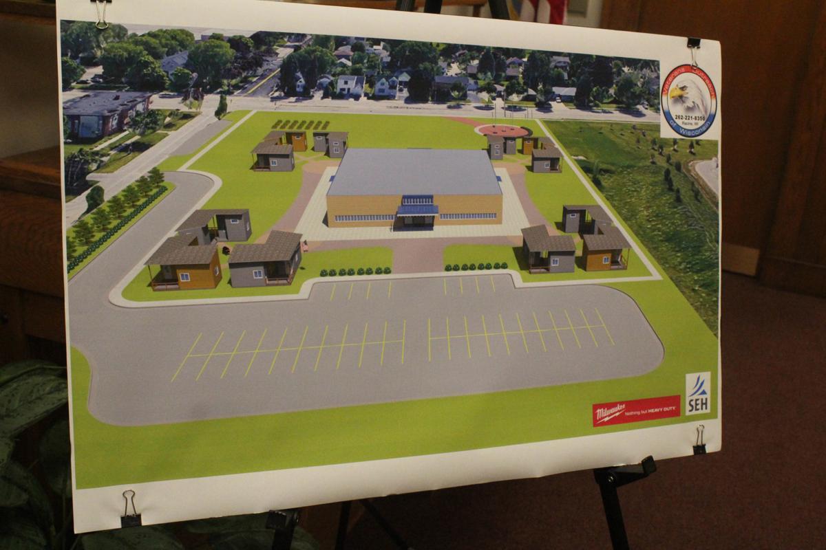 Milwaukee tiny homes village mockup