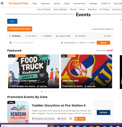 EVENT PAGE SCREENSHOT