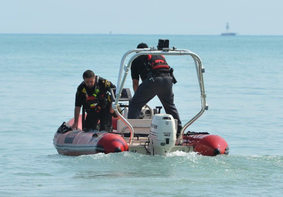 Missing person search on Lake Michigan