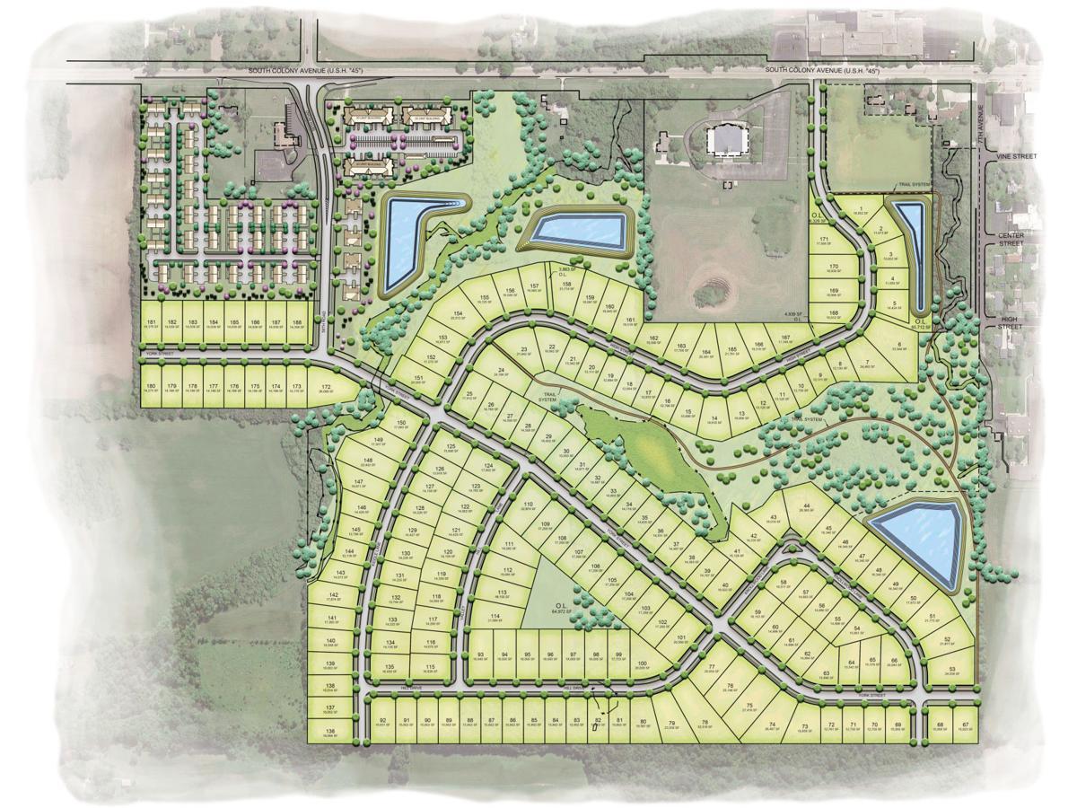 Canopy Hill development site plan Union Grove - 2021