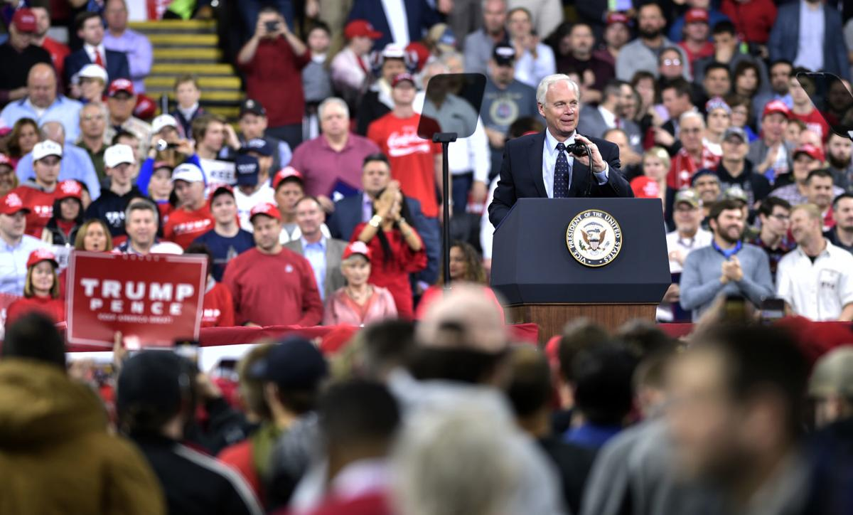 Sen. Ron Johnson, R-Wisconsin, takes the stage