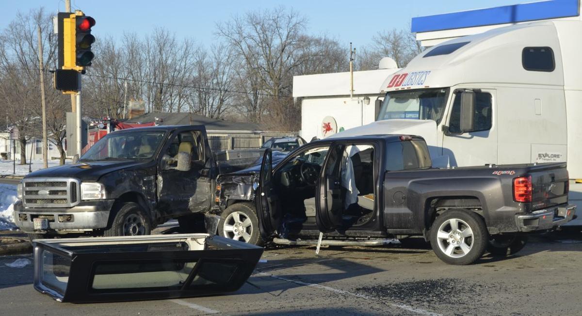 Semi Two Pickup Trucks Involved In Sturtevant Crash