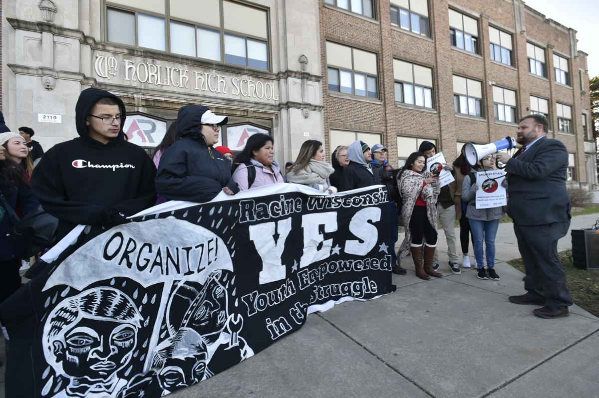Immigration rally at Horlick High School
